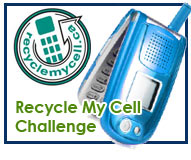 Recycle My Cell Challenge button
