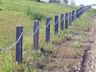 Fence posts made from Flow Molding (photo credit: APRA)